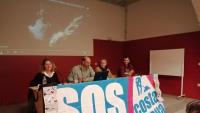 Un moment de la presentació ahir a Girona de la feina de SOS Costa Brava