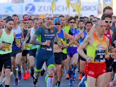 Imatge de la sortida de l'edició del 2019 de la marató de Barcelona