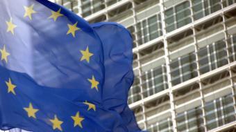Una bandera europea