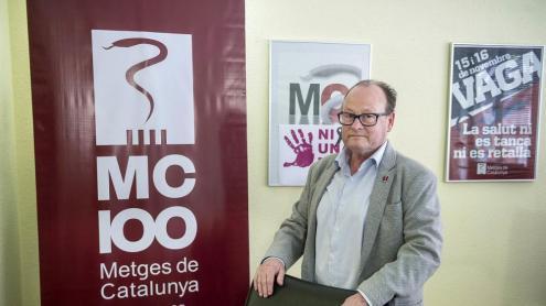 Jordi Cruz a la seu de Metges de Catalunya