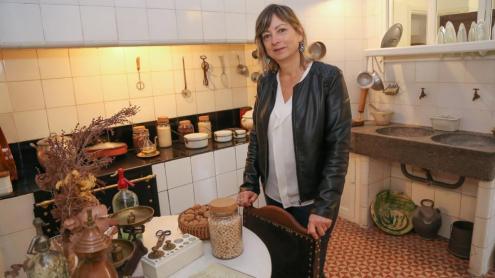 Rosa Maria Gil, a la cuina de la Casa Masó, a Girona.