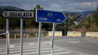 Accés a Igualada, ara tallat pel control dels Mossos