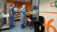 Infermers i metges de l'Hospital Clínic