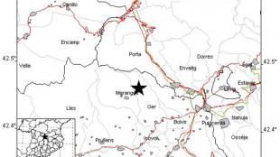 Es registra un terratrèmol de magnitud 2,4 sense danys amb epicentre a la Cerdanya
