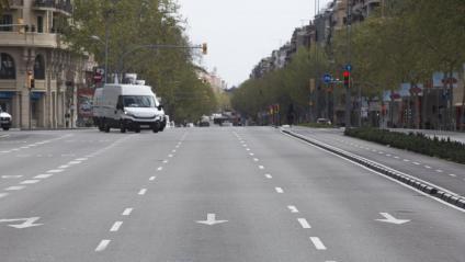 Barcelona, gairebé buida