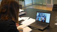 Budó en una reunió per videoconferència del consell executiu del dia 24 de març