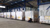 Arriben 14 tones de material sanitari a la base de Torrejón d'Ardoz