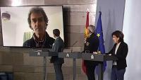 Simón intervé per videoconferència a la roda de premsa
