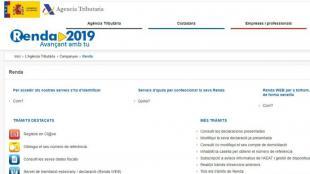 La web de l'Agència Tributària