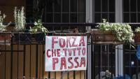 Un missatge en un balcó de Roma