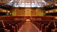 Interior de la sala gan del Tribunal de Justícia de la Unió Europea