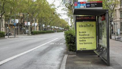 Avinguda Diagonal de Barcelona durant el confinament
