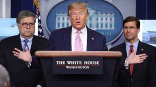 El president dels EUA, Donald Trump, explica el desplegament naval a Llatinoamèrica, a la Casa Blanca