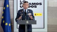 El general tarragoní Villarroya, cap de l'estat major de la Defensa (Jemad), ahir a La Moncloa