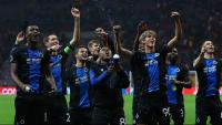 Els jugadors del Bruges, campions de lliga per decret