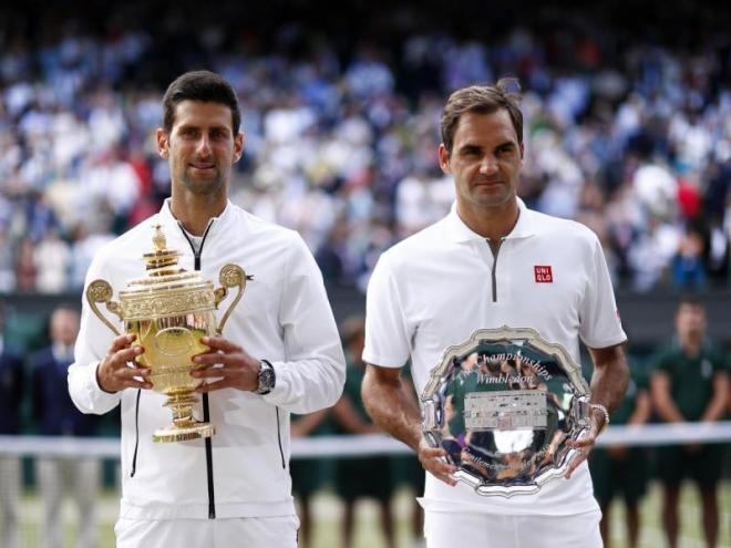 Novak Djokovic i Roger Federer l'any passat