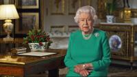 Elisabet II durant el discurs d'ahir des del castell de Windsor, a Anglaterra