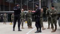 Membres de l'exèrcit i Policies espanyols desplegats a l'estació d'Atocha de Madrid