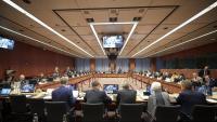 Foto de treball d'una reunió de l'Eurogrup del passat mes de gener