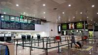 El vestíbul de l'AVE de l'estació de Sants, aquests dies gairebé buida de passatgers