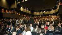 Una imatge del dia de la reobertura del Teatre Goya , el 2008, ple de públic