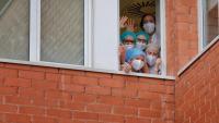 Treballadors de l'hospital d'Igualada
