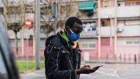 Lamine Sarr, en una imatge presa al barri del Raval de Barcelona