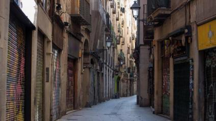 Carrer del barri Gòtic de Barcelona