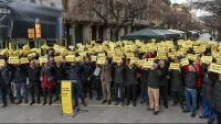 Gerard Esteva, presidents de federacions i dirigents de clubs reclamaven, al gener, l'1% dels pressupostos de la Generalitat