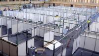 Instal·lacions de l'INEFC preparades per poder descongestionar l'Hospital Clínic de Barcelona