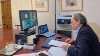 El president de la Generalitat, Quim Torra, al seu despatx