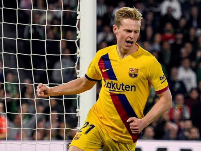 El futbolista del Barça, Frenkie De Jong.