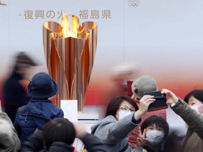 L'exposició de la flama olímpica a Fukushima