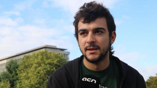 Adrià Carrasco, el membre del CDR d'Esplugues de Llobregat establert a Bèlgica, en una imatge del 2018