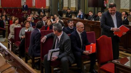 Imatge del judici celebrat al Tribunal Suprem
