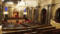 L'hemicicle del Parlament buit