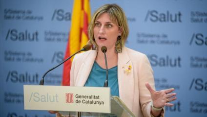 La consellera de Salut, Alba Vergés, en una roda de premsa