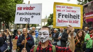 Protesta contra les restriccions per la pandèmia del coronavirus a Berlín