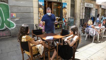 Primera jornada de terrasses obertes a Barcelona
