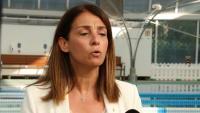 La portaveu del Govern, Meritxell Budó, atén la premsa des del Dir Diagonal de Barcelona