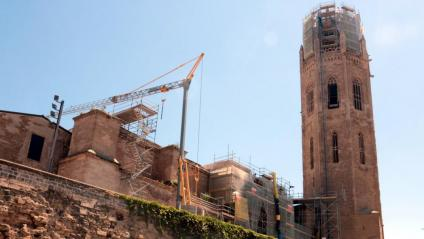 Obres a la seu Vell de Lleida el 19 de maig