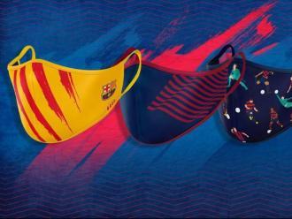 Els tres models de mascareta del Barça