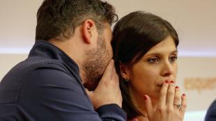 El portaveu parlamentari d'ERC al Congrés, Gabriel Rufián, i la secretària general adjunta d'ERC, Marta Vilalta