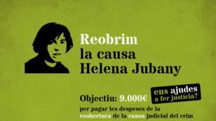 El rètol<b> de la campanya que van posar en marxa dimarts al vespre i que pretén reunir 9.000 euros.</b>