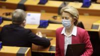 La presidenta de la Comissió Europea, Ursula von der Leyen, a punt de presentar ahir la proposta, que a partir del 19 de juny debatran els estats