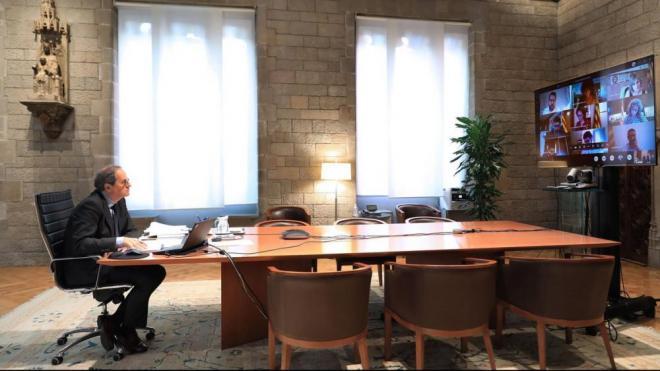 El president Torra a la reunió setmanal del Govern
