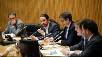 El vicepresident segon del govern espanyol, Pablo Iglesias, aquest dijous a la comissió per a la reconstrucció del Congrés