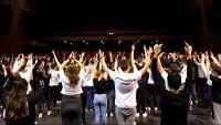 El Kursaal de Manresa en un assaig del 'Fem dansa!' del 2017