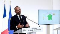 Édouard Philippe, primer ministre francès, anuncia, ahir, la segona fase de la desescalada