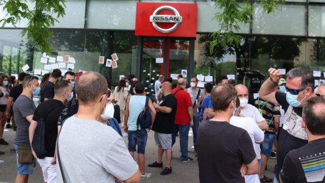 Protesta dels treballadors de Nissan